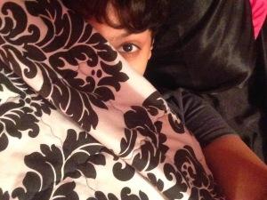 Me, hiding.